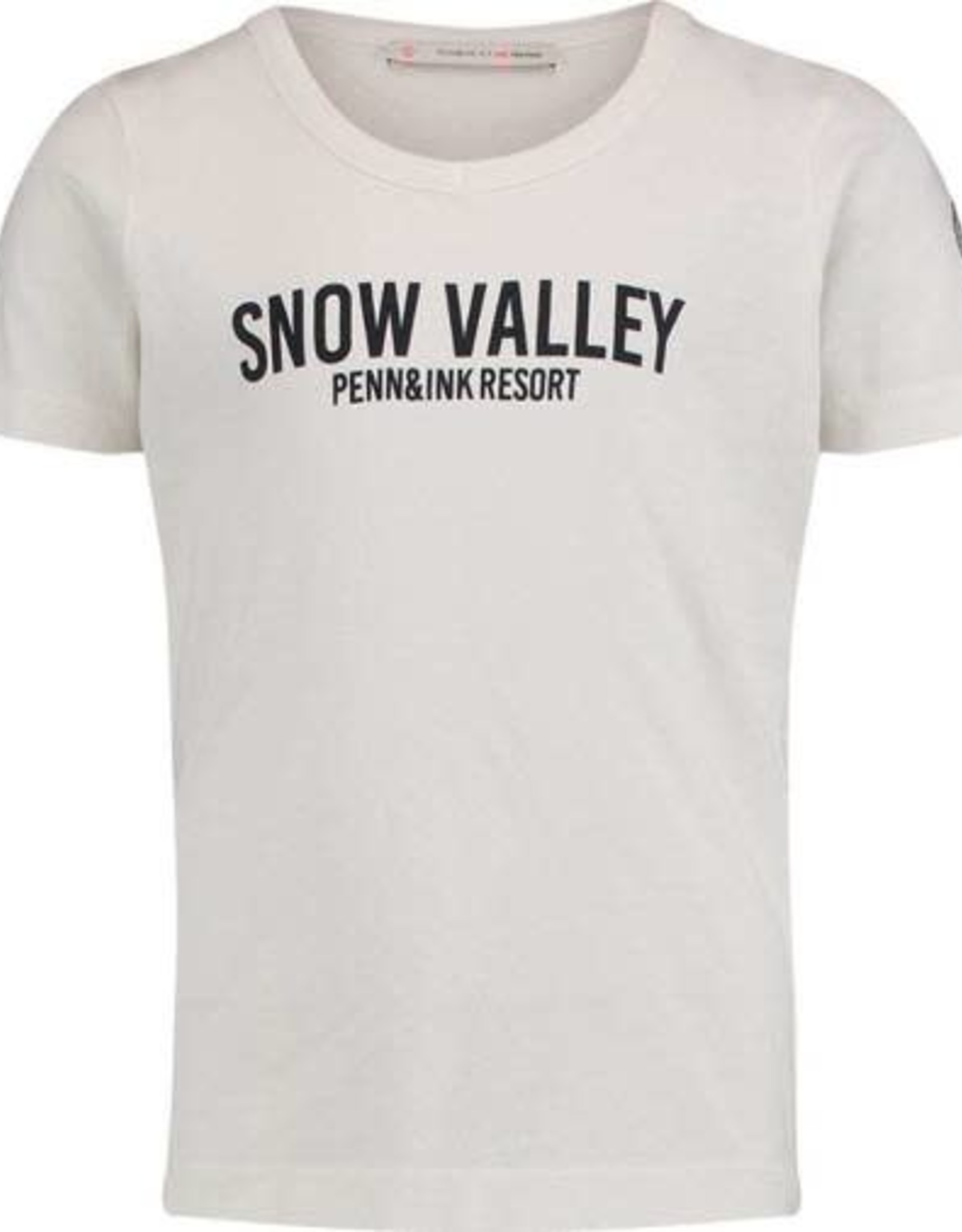Penn & Ink N.Y. T-Shirt Snow Valley White/Navy mt 8
