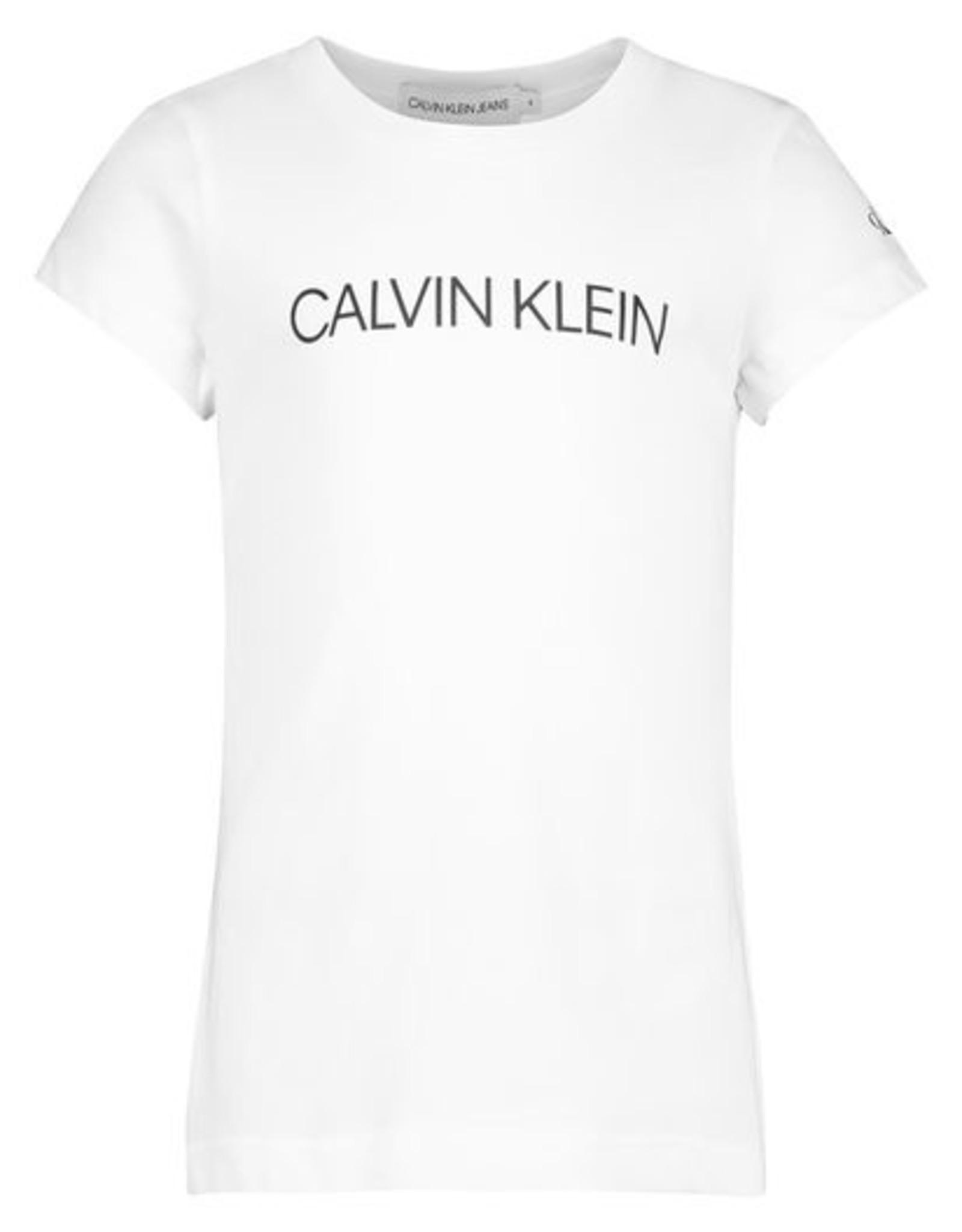 Calvin Klein Institutional SS Slim T-Shirt zwart of wit