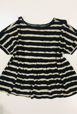 Little 10 Days Oversized Tee Painted Stripes