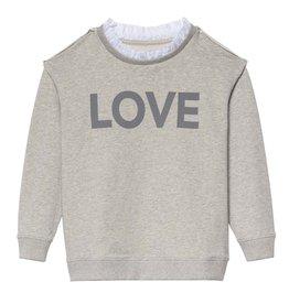 Little 10 Days Sweater Ruffles Light Grey maat 122