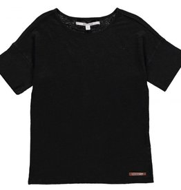 Moscow Top Linen Jersey Black