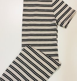 Moscow Dress Striped Cotton Jersey Off White Antra Black mt 176