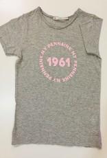 Penn & Ink N.Y. T-shirt grey Mel/Pink