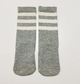 OUaPC Sokken Striped Grey/White mt 15-18