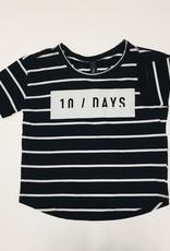 Little 10 Days Short Sleeve Tee Stripe Black/White mt 4