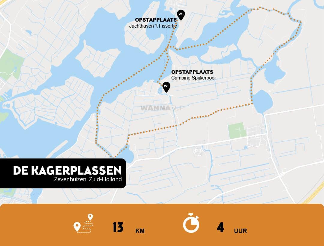 Sup route Zevenhuizen, de Kagerplassen - Zuid-Holland - WANNAsup