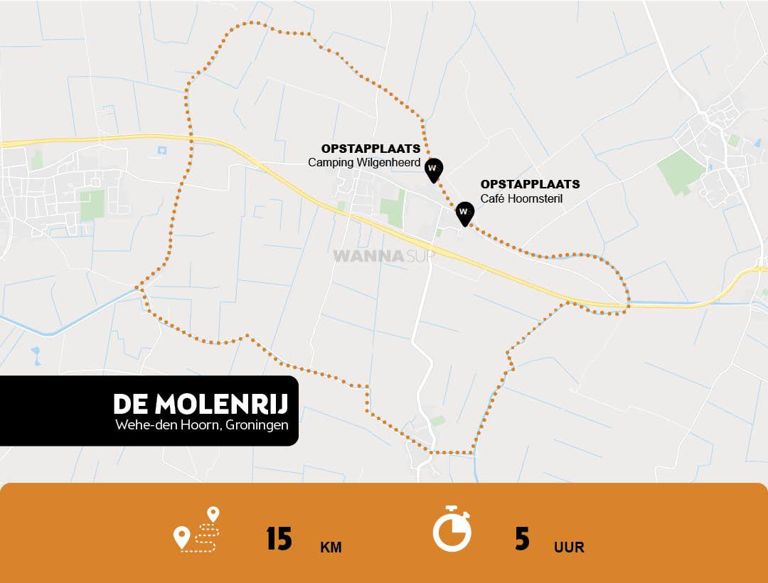 Sup route de Molenrij, Wehe-den Hoorn - Groningen - WANNAsup