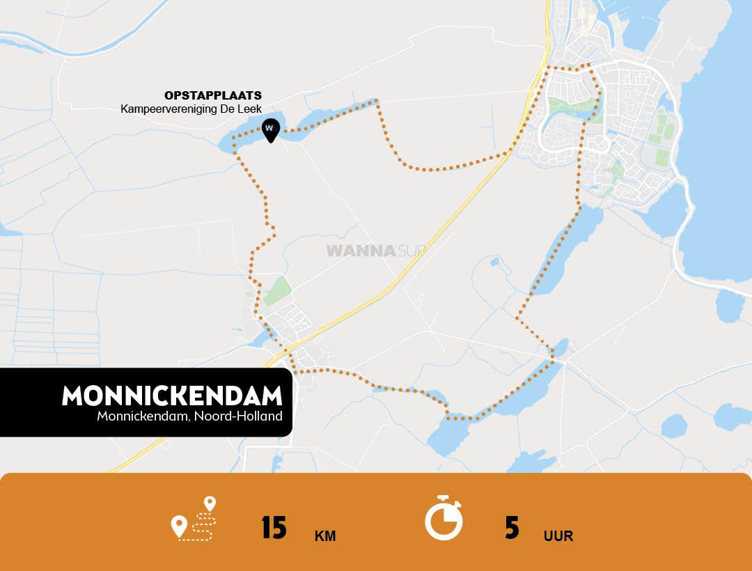 sup route Monnickendam - Noord-Holland - WANNAsup