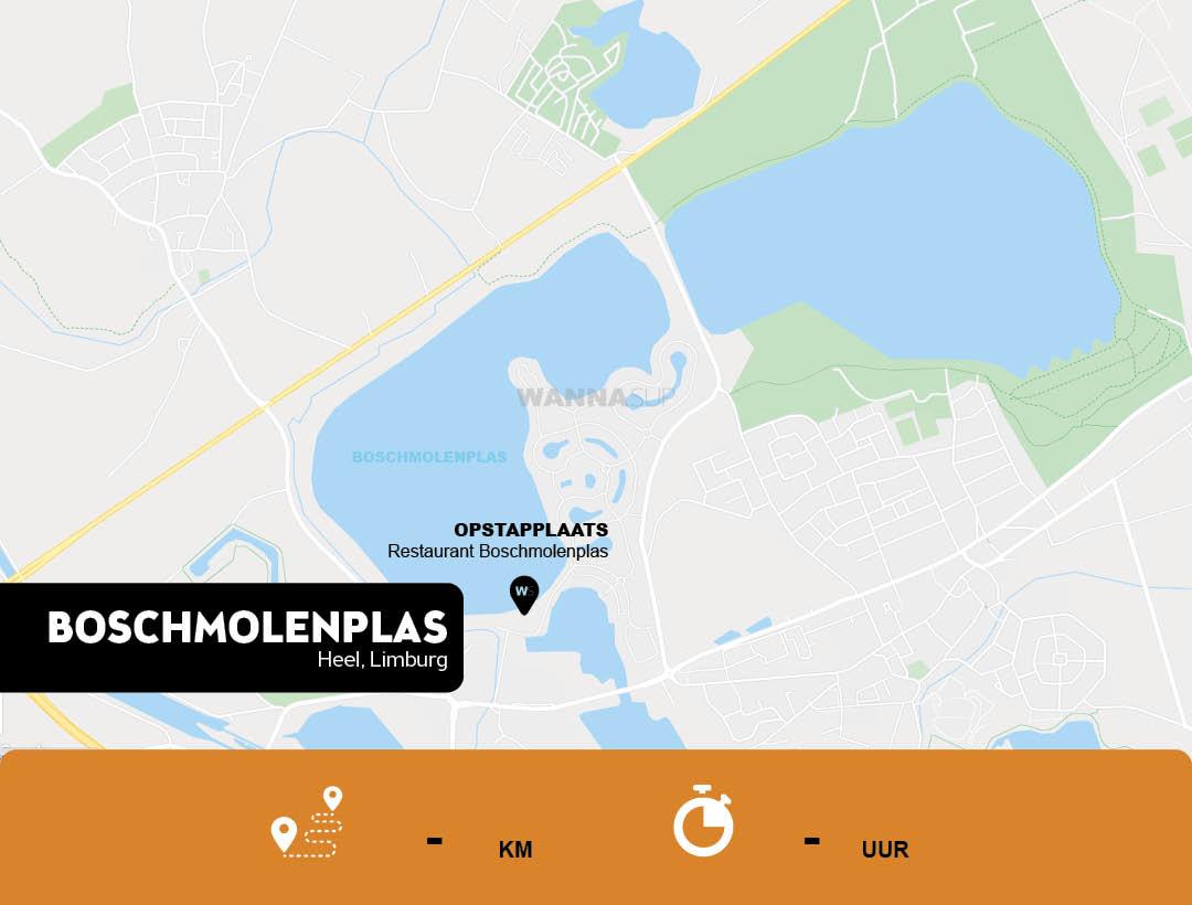 Sup opstapplaats Boschmolenplas, Heel - Limburg - WANNAsup
