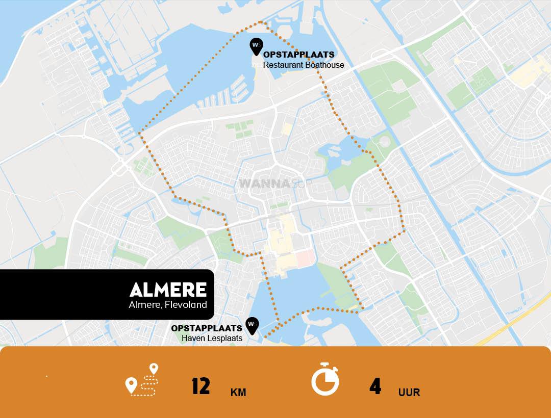 Sup route Almere - Flevoland - WANNAsup