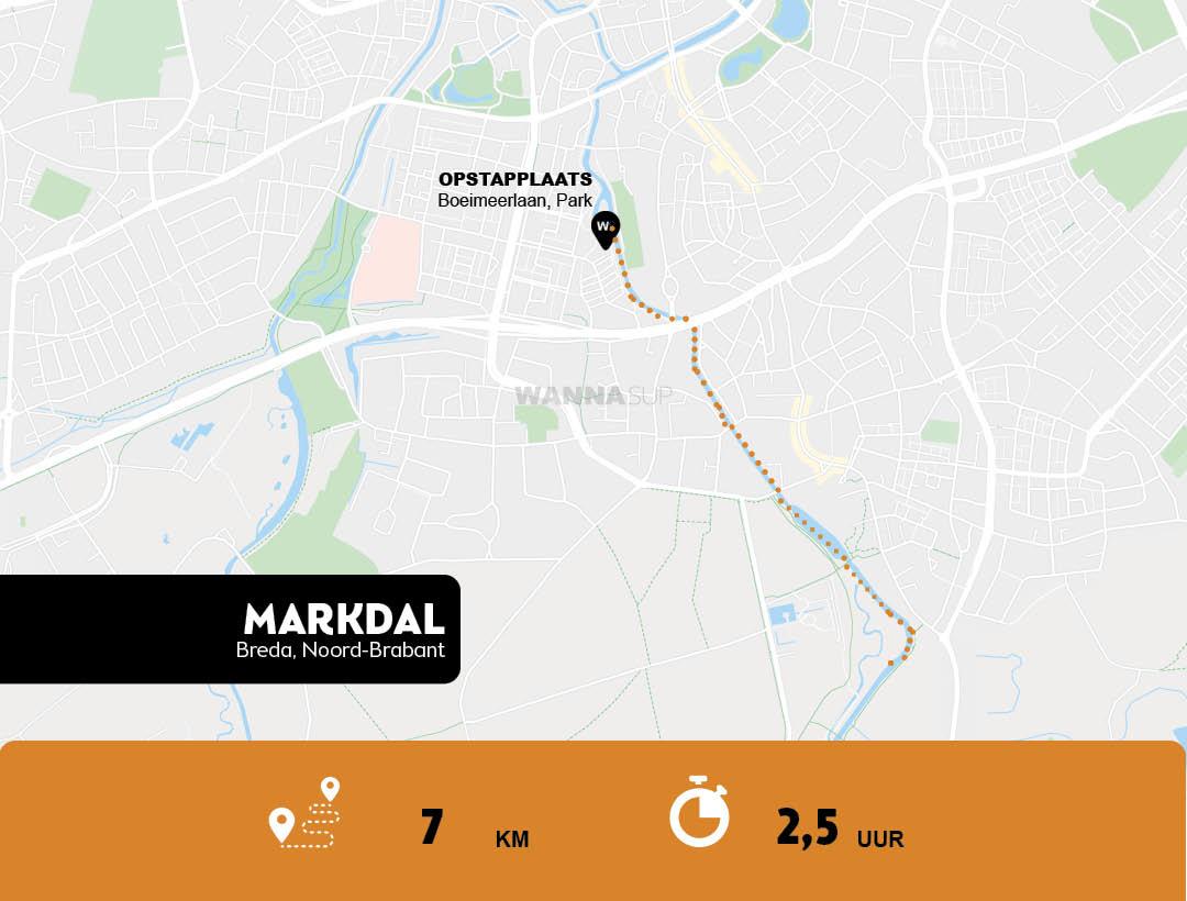 Sup route Markdal, Breda - Noord-Brabant - WANNAsup