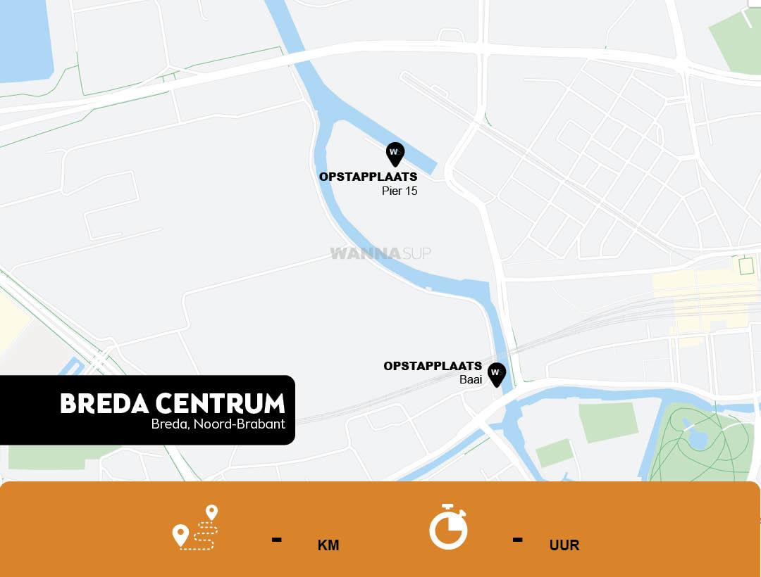 Sup opstapplaatsen Breda Centrum, Noord-Brabant - WANNAsup