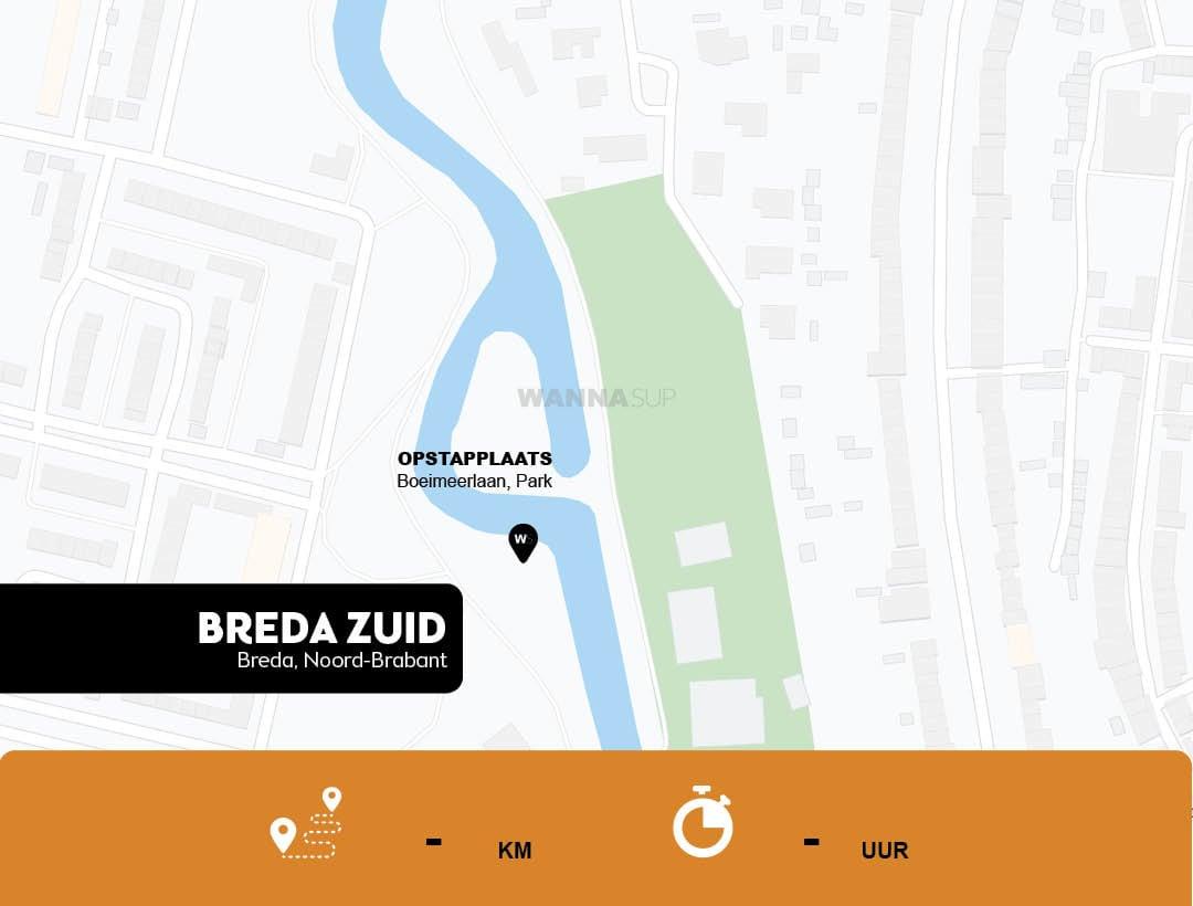 Sup opstapplaats Breda Zuid, Noord-Brabant - WANNAsup