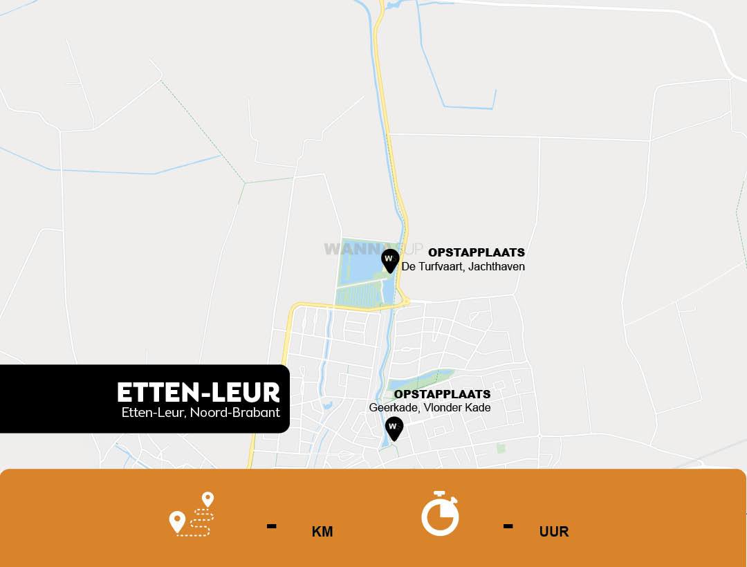 sup opstapplaatsen Etten-Leur, Noord-Brabant - WANNAsup