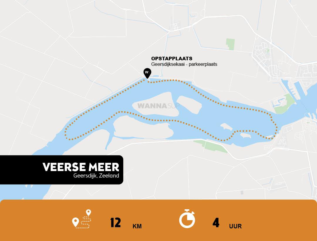 sup route Veerse Meer, Geersdijk - Zeeland - WANNAsup