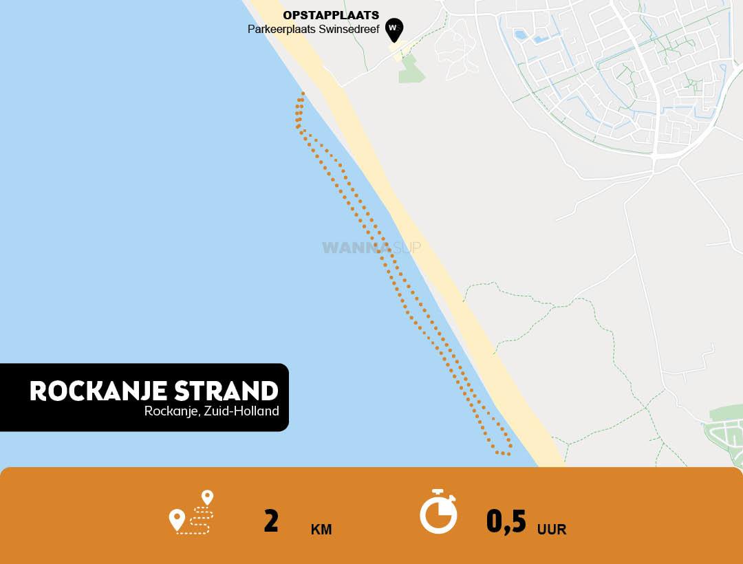 Sup route strand Rockanje, Zuid-Holland - WANNAsup