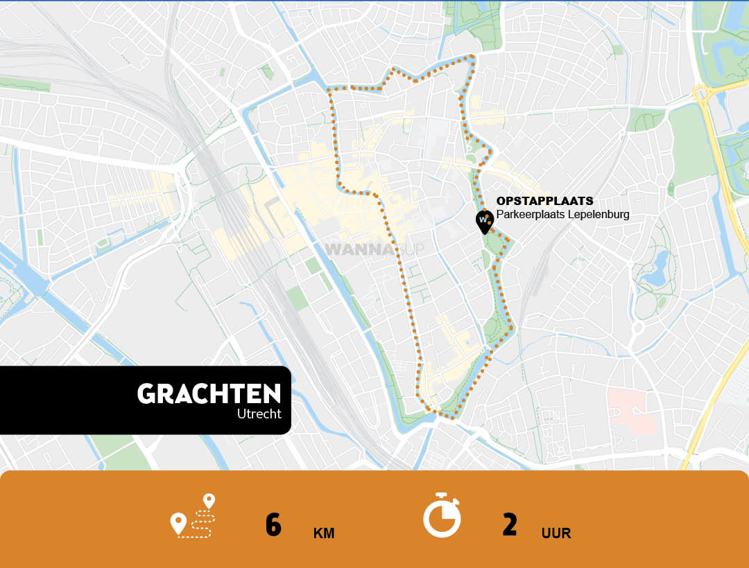 Sup route Utrecht (Stad) - WANNAsup