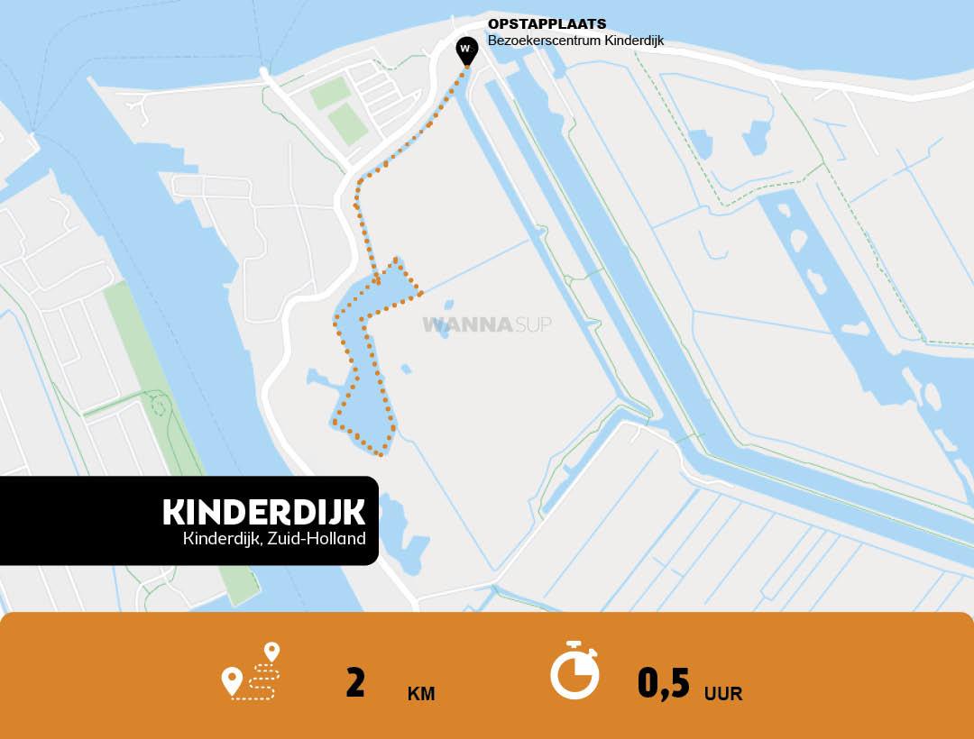 Sup route Kinderdijk, Zuid-Holland - WANNAsup