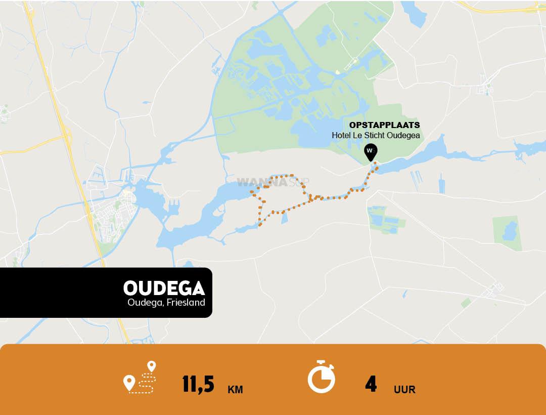 Sup route Oudega - Friesland - WANNAsup