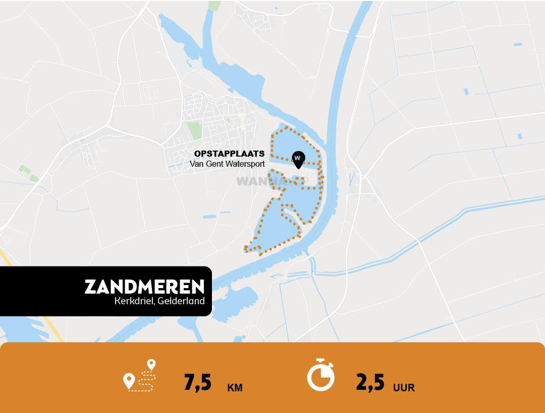 Sup route Kerkdriel - Gelderland - WANNAsup