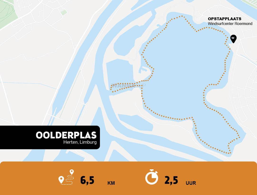 Sup route Oolderplas te Herten - Limburg - WANNAsup