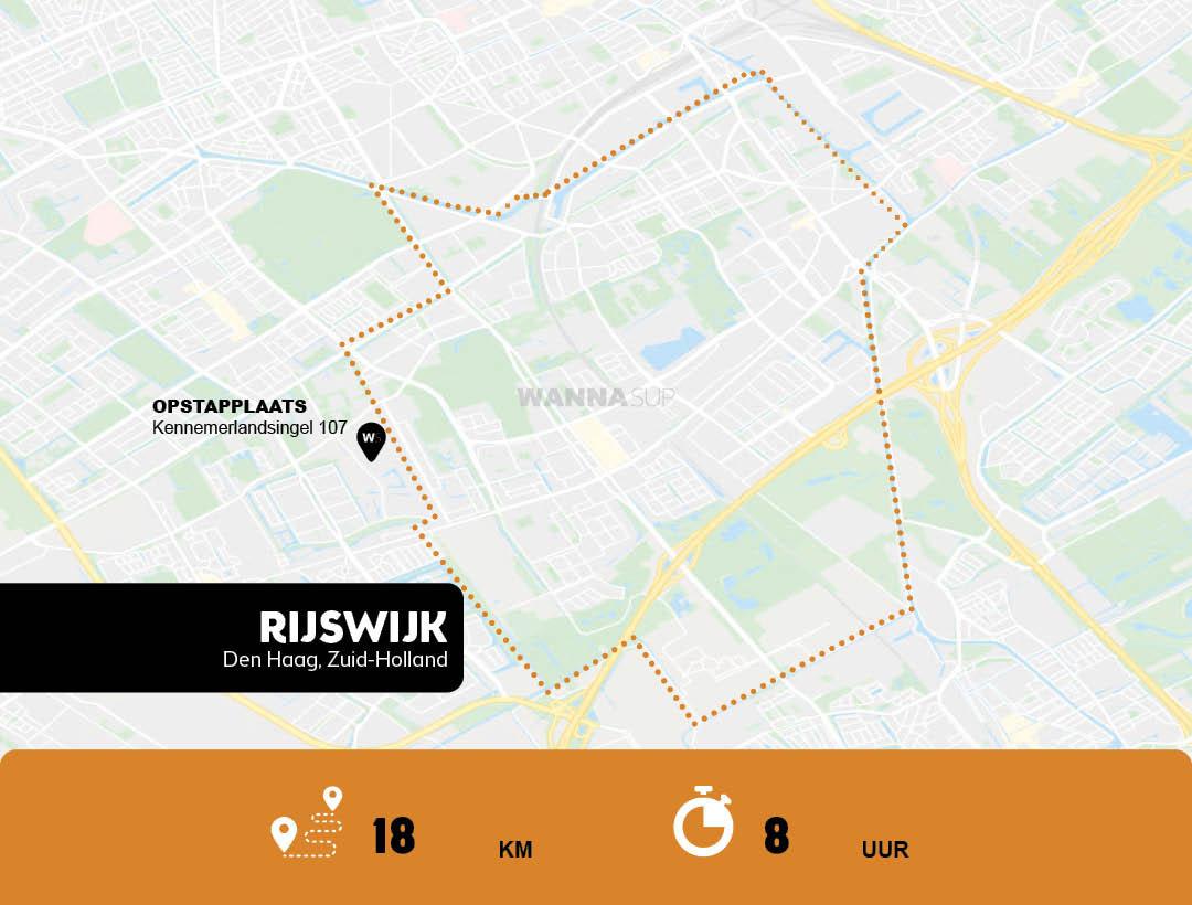 Sup route Den Haag - Rijswijk - Zuid-Holland - WANNAsup