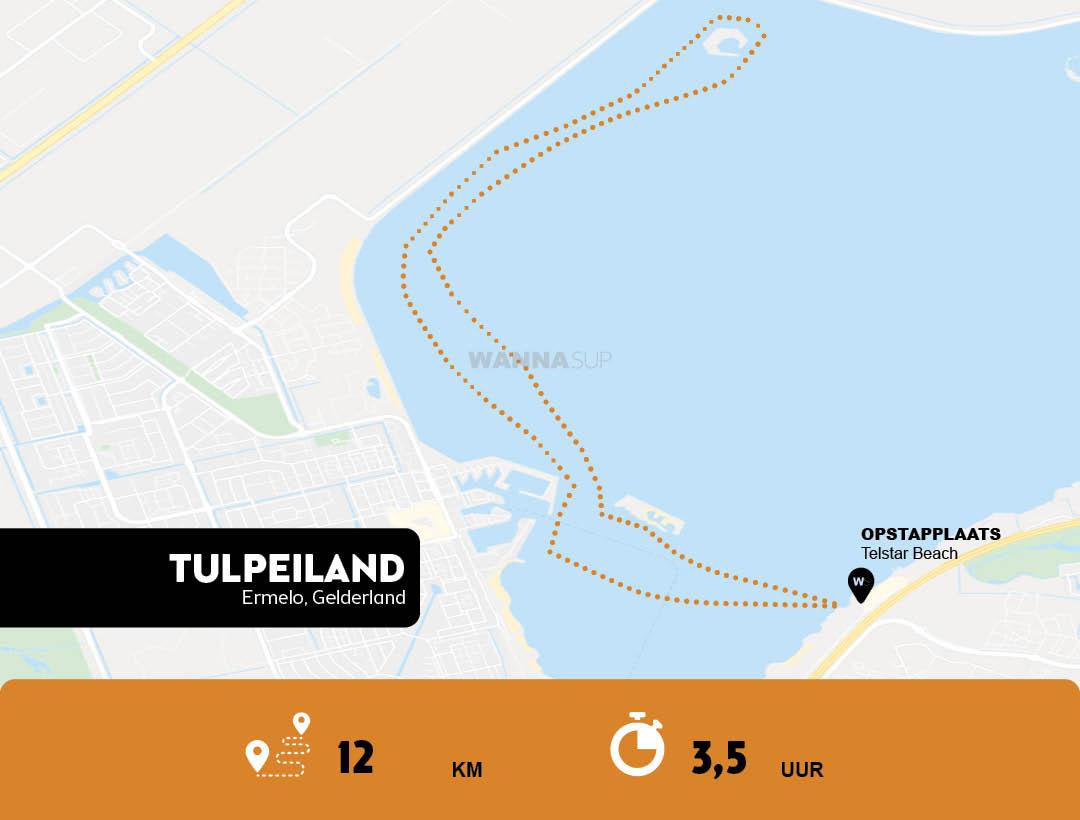 Sup route Ermelo - Wolderwijd - Gelderland - WANNAsup
