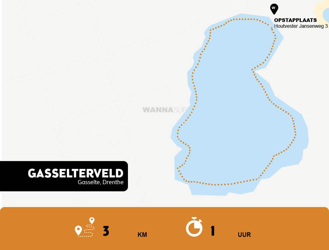 Sup route Gasselte - Drenthe - WANNAsup
