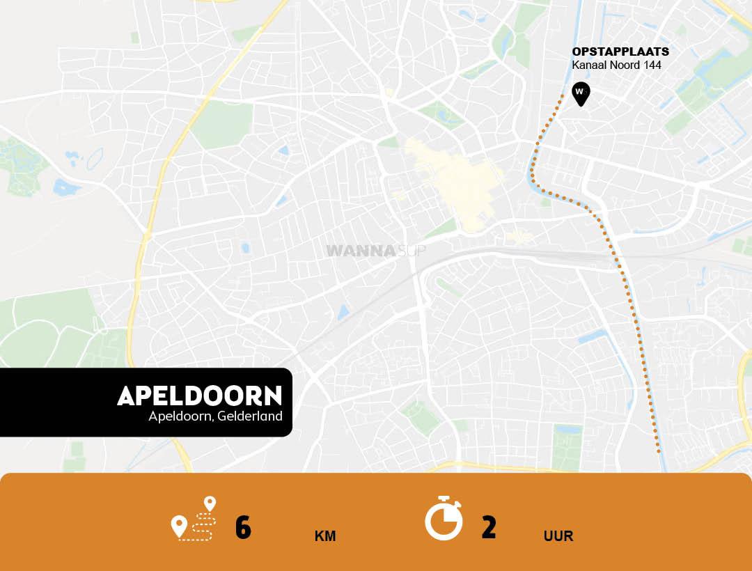 Sup route Apeldoorn - Gelderland - WANNAsup