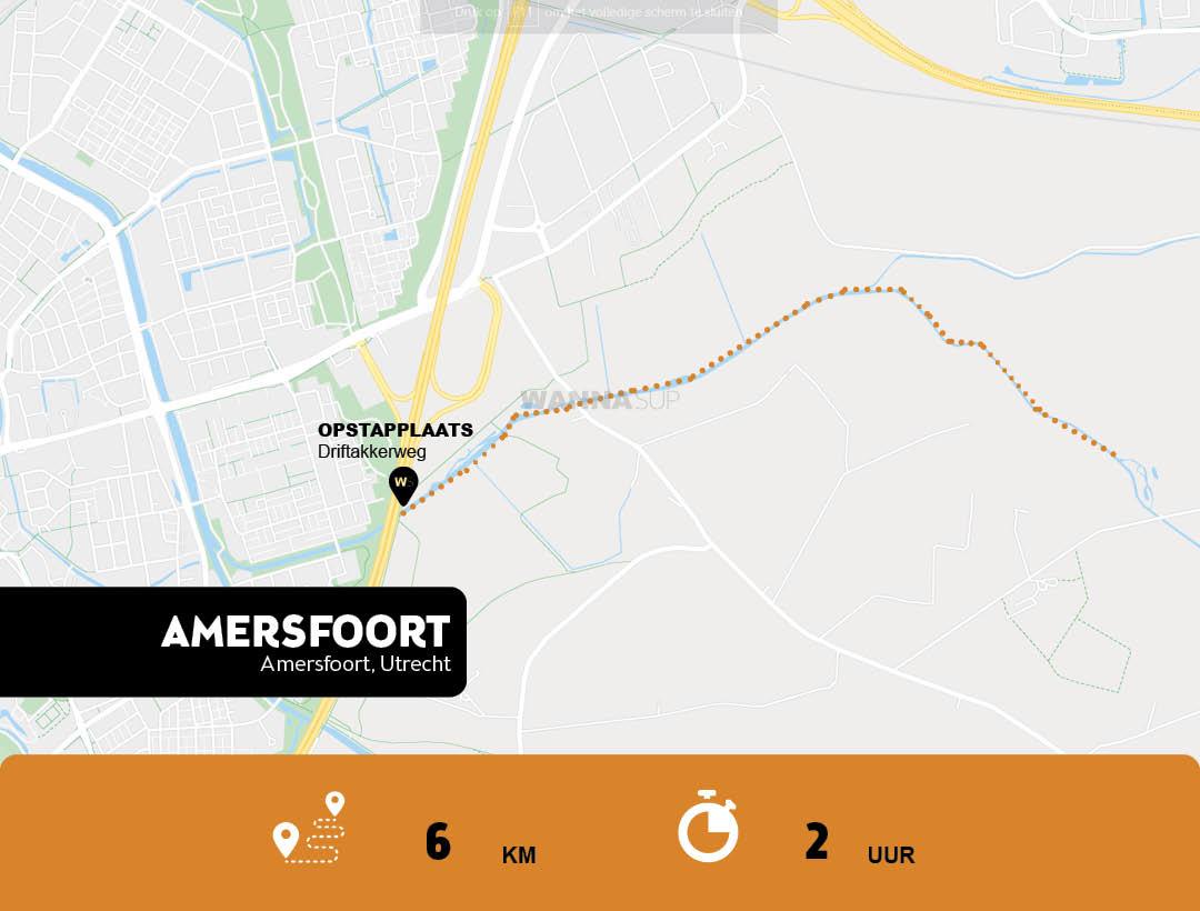 Sup route Amersfoort - Utrecht - WANNAsup