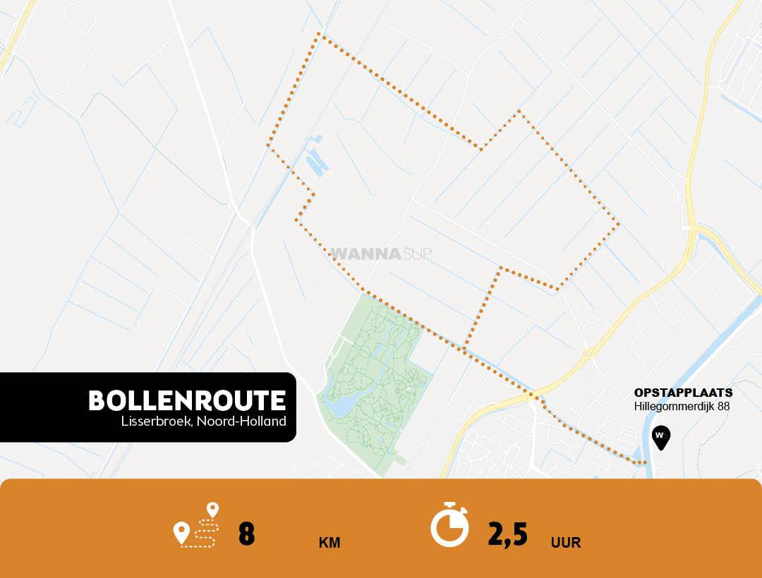 Sup route Lisserbroek, Bollenstreek - Noord-Holland - WANNAsup