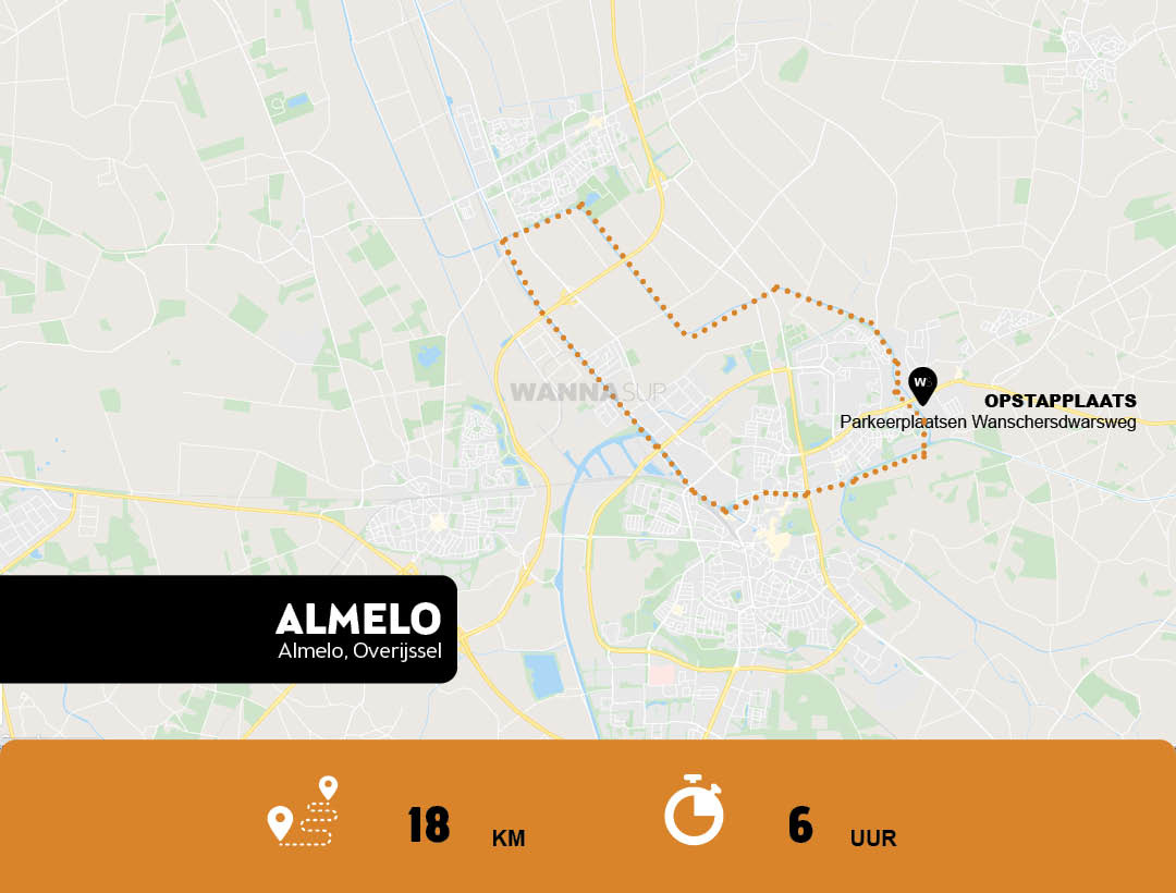 Sup route Almelo - Overijssel - WANNAsup