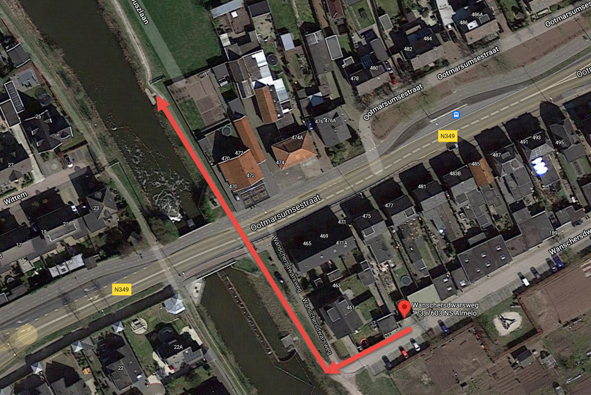 Sup route Almelo opstapplaats