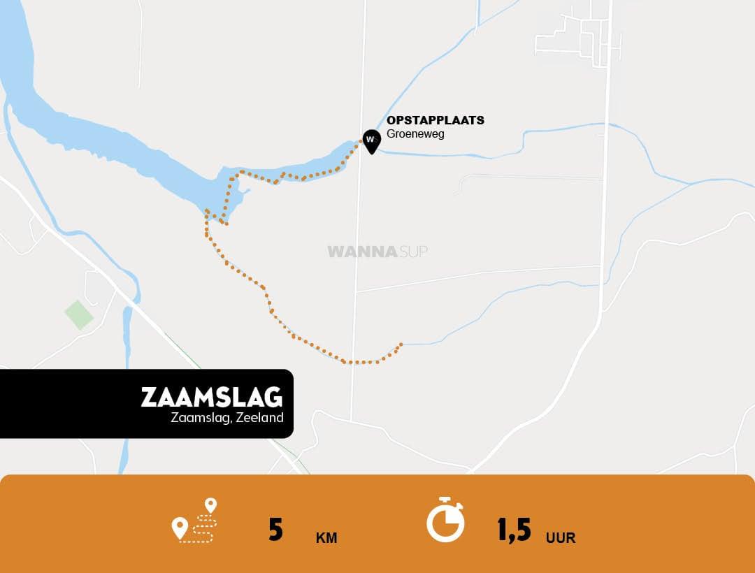 Sup route Zaamslag - Zeeuws-Vlaanderen - Zeeland - WANNAsup
