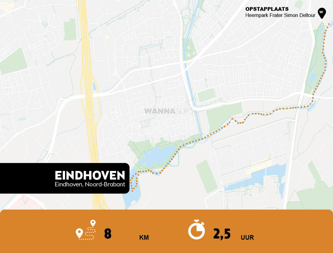 Sup route Eindhoven - WANNAsup