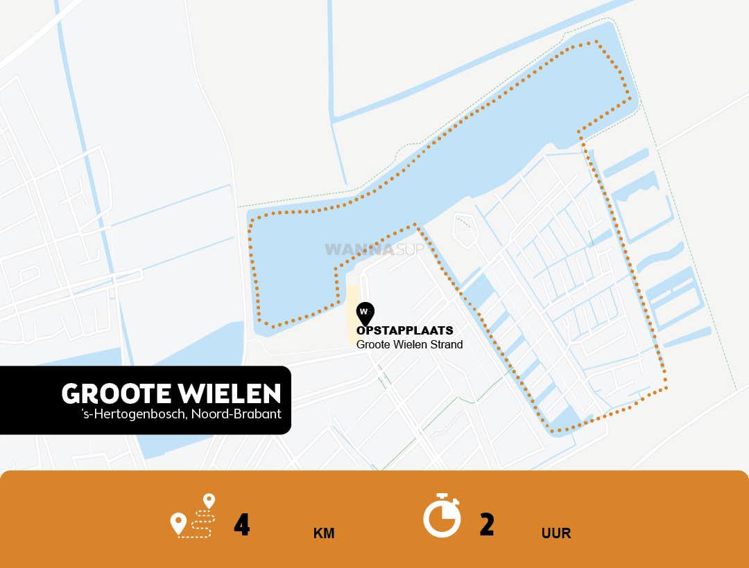 Sup route Groote Wielenplas - Rosmalen - WANNAsup