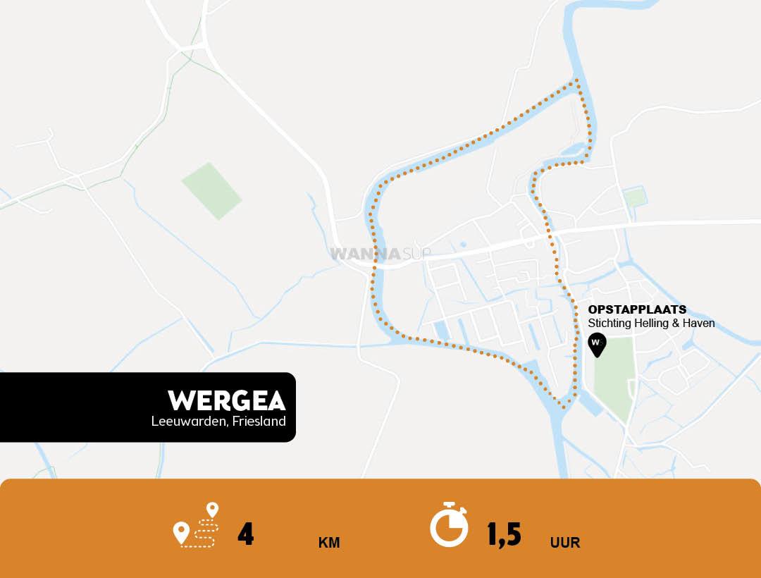 Sup-route-Wergea-(Warga)-Leeuwarden-WANNAsup
