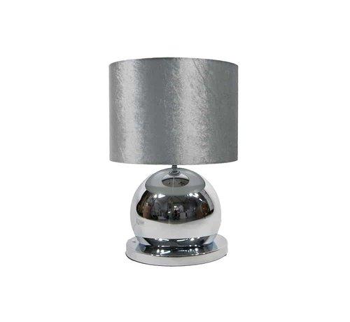 Erik Kuster Style Bollamp Tafel/Nachtkastje Zilver