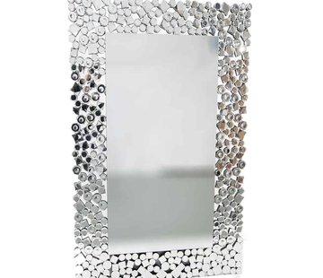 Erik Kuster Style Prachtige Erik Kuster style spiegel zilver