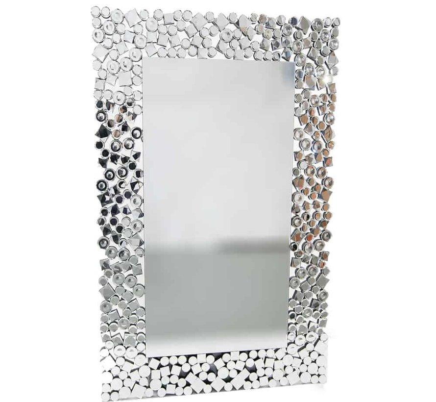 Prachtige Erik Kuster style spiegel zilver