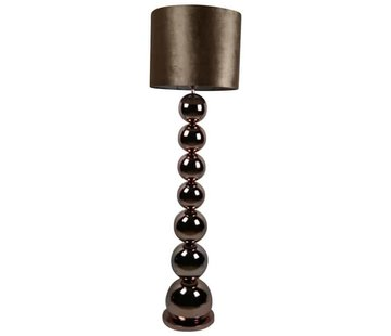 Erik Kuster Style Bollamp Vloerlamp  Brons/Goud