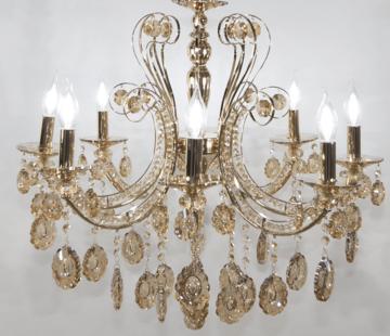 Erik Kuster Style Kroonluchter Chicago Lamp Goud