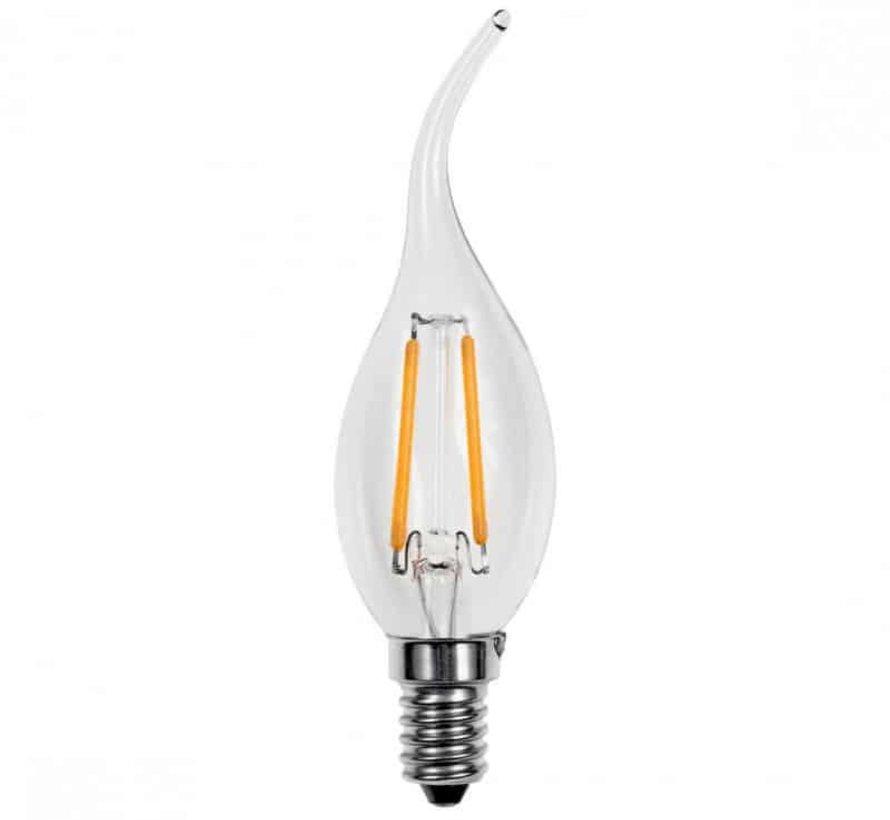 E14 kaarslamp in Warm Wit