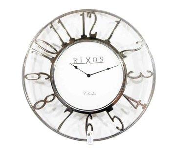 Lampenenmeer Zilvere ronde design klok Rixos