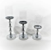 Lampenenmeer Kandelaar-Royal Zilver - Set van 3