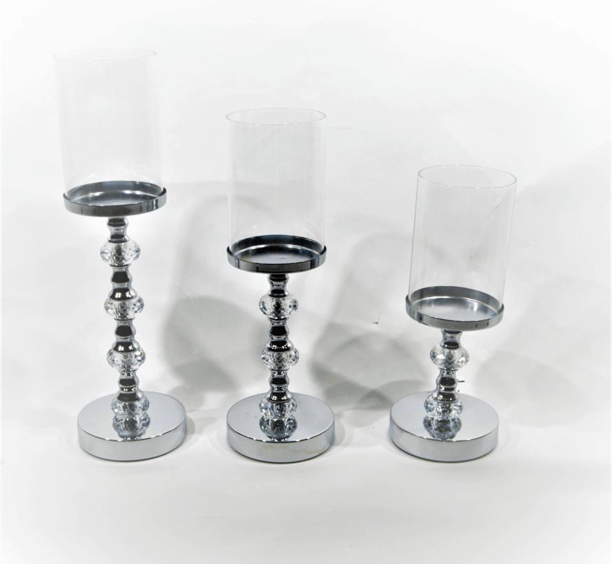 Kandelaar-Royal Zilver - Set van 3
