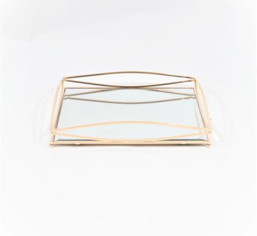 Erik Kuster Style Dienblad Royal+Zilver Glas