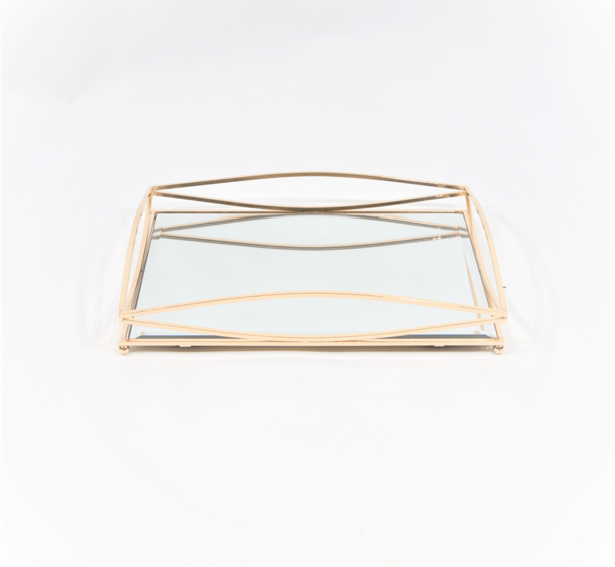Dienblad Royal+Zilver Glas