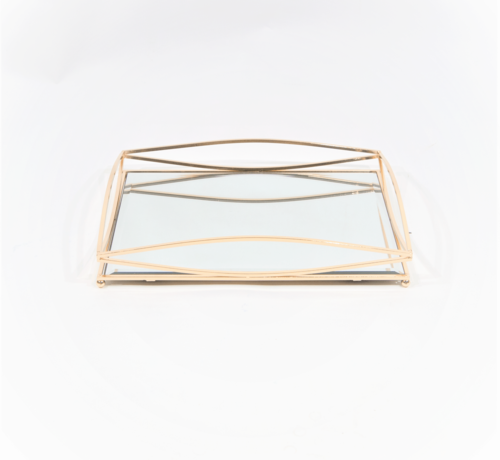 Erik Kuster Style Dienblad Royal+Zilver Glas - Goud