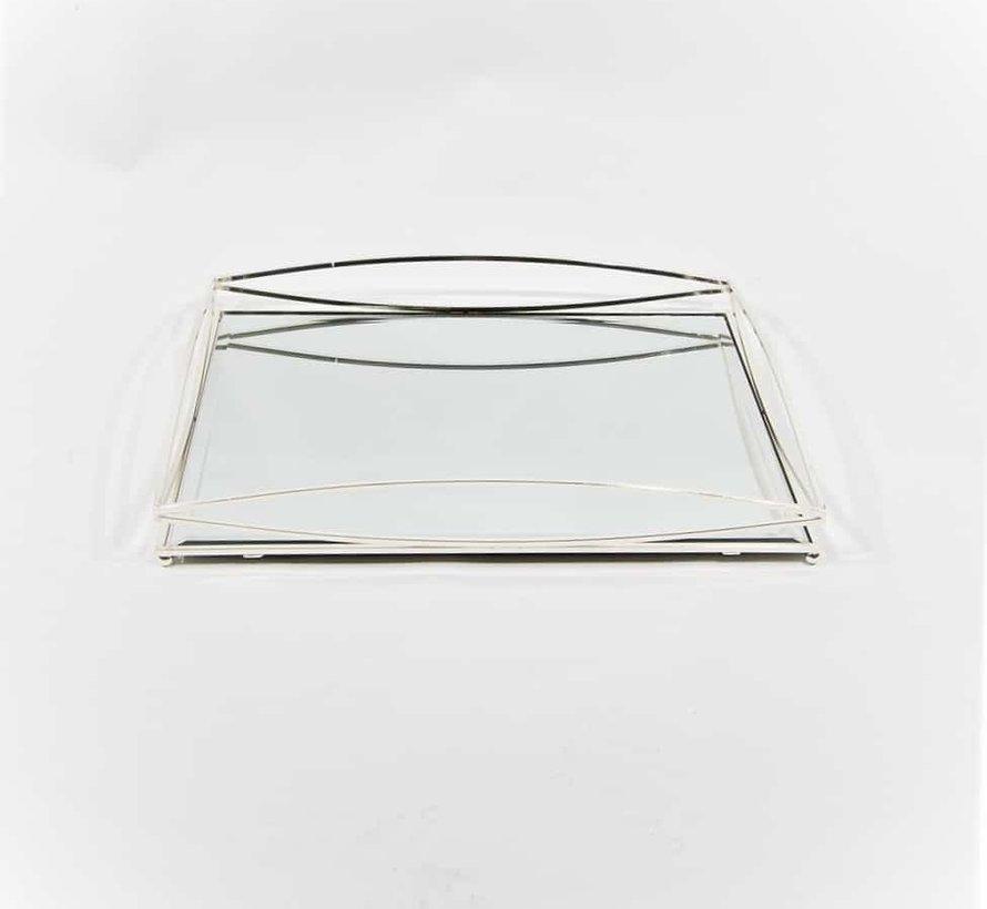 Dienblad Royal+Zilver Glas - Zilver